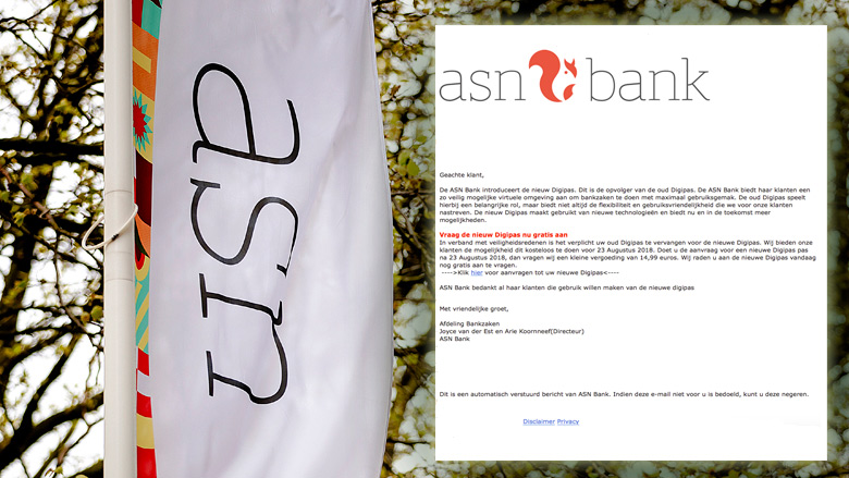 Opgelet! E-mail 'ASN Bank' is phishing