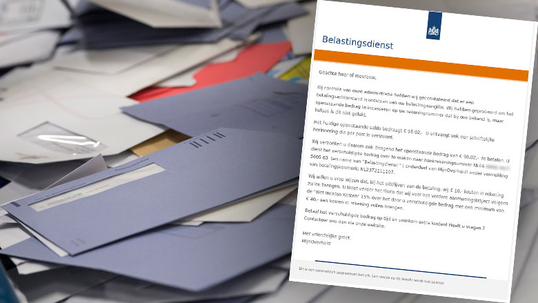 Fraudehelpdesk waarschuwt voor valse e-mail 'Belastingdienst'