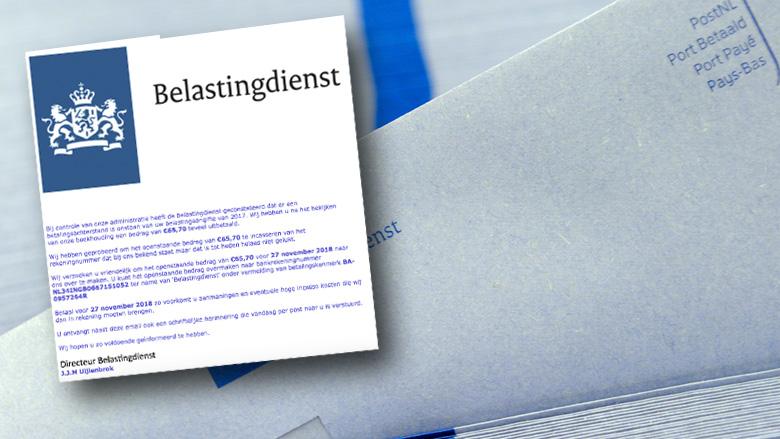 Pas op voor valse mails van 'Belastingdienst' over betalingsachterstand