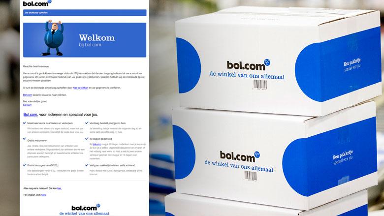 Phishingmail Bol.com: 'Uw account is geblokkeerd'