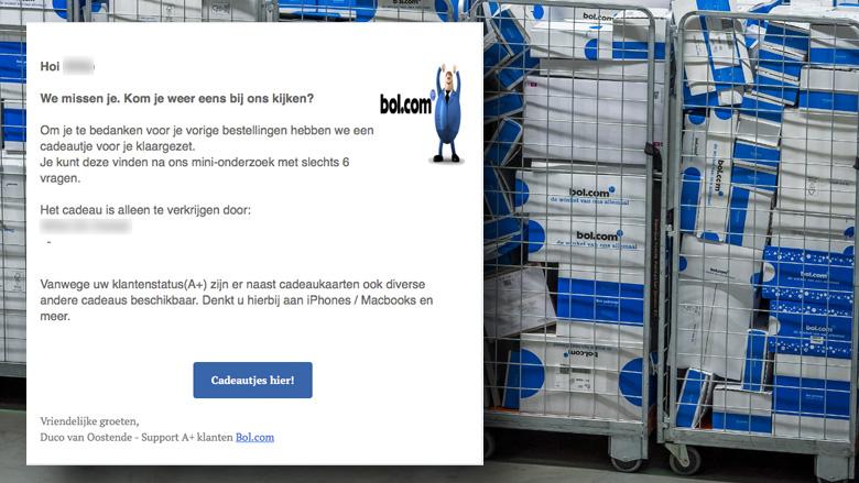 Mail Van Bolcom Over Cadeautje Voor Je Bestellingen Is