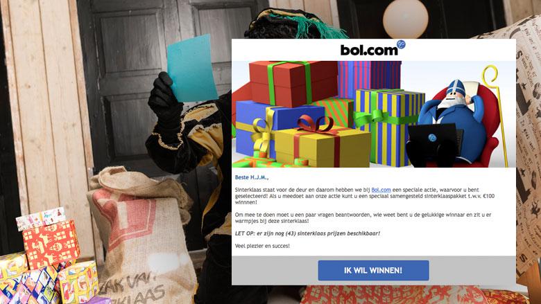 Valse winactie 'Bol.com': 'Win een sinterklaaspakket!'