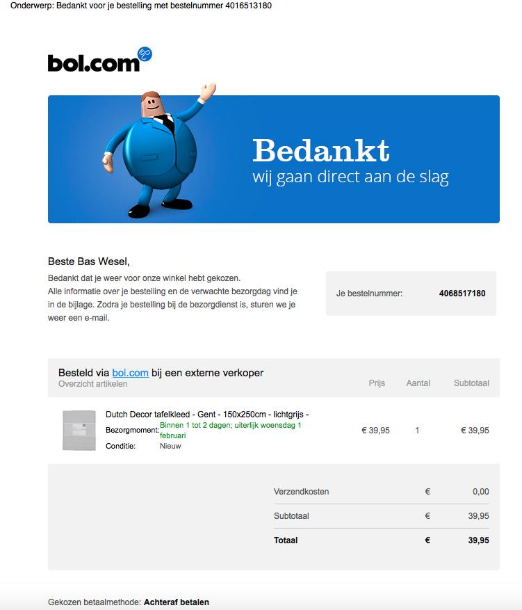 Let op! Valse e-mail 'bol.com'