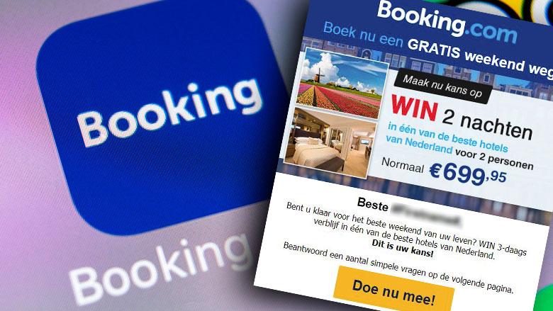 'Gratis weekend weg!' blijkt misleidende winactie uit naam van Booking.com