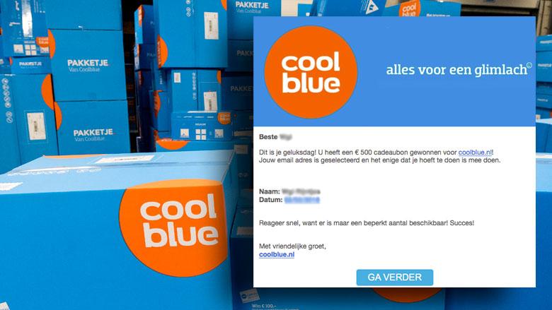 Pas op voor misleidende winactie 'Coolblue'