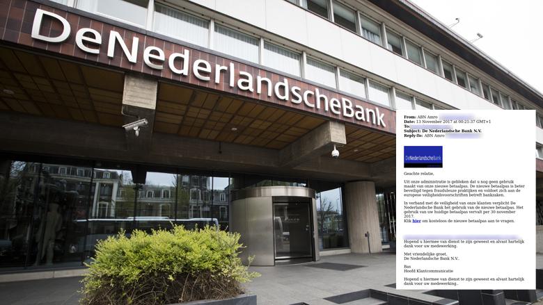 Malware verstopt in e-mail 'De Nederlandsche Bank'