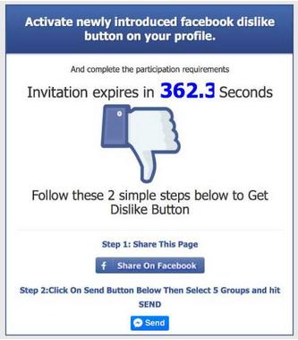 Pas op voor 'dislike-scam' op Facebook!
