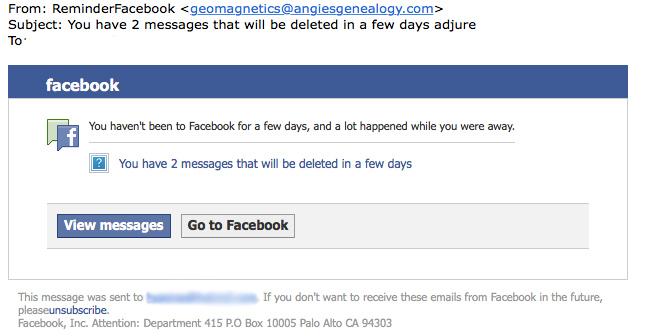 Pas op voor Facebook-phishing