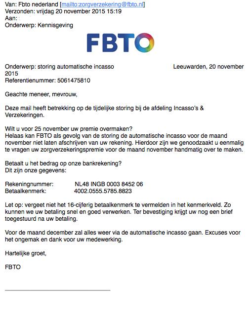 Pas op voor valse mail FBTO