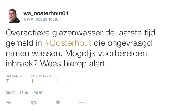 Politie waarschuwt voor 'ijverige' glazenwasser