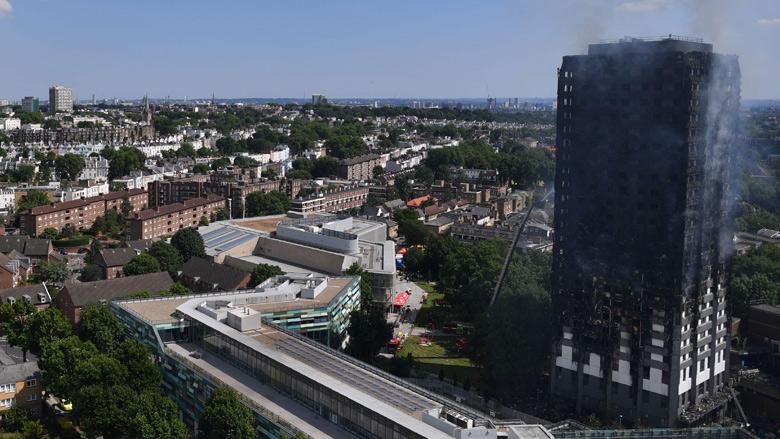 Negen nepslachtoffers Londense torenbrand opgepakt