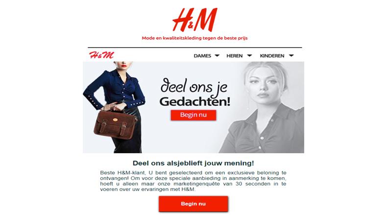 Phishingmail van 'H&M' ontvangen? Trap er niet in!
