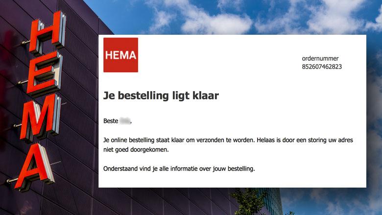 Trap niet in valse mail van 'HEMA' over online bestelling