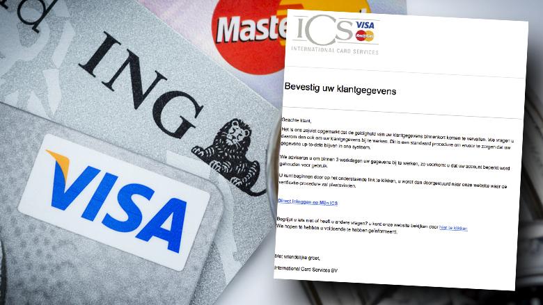 Trap niet in mail van 'ICS' over klantgegevens bijwerken