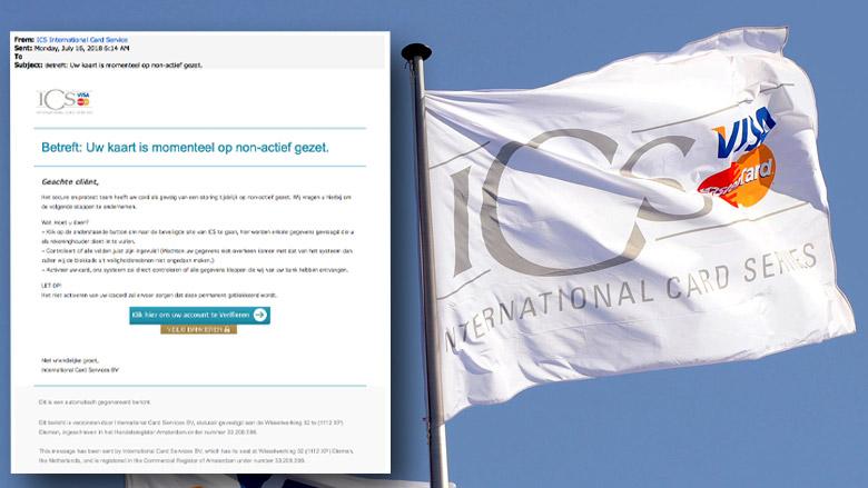 Trap niet in valse e-mail 'ICS' over geblokkeerde kaart
