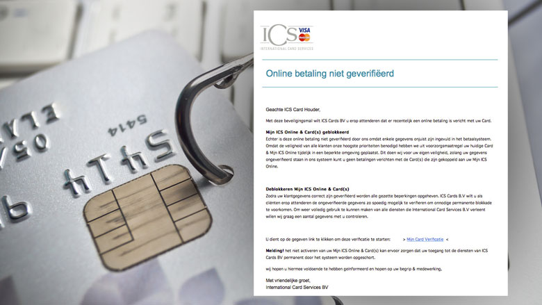 Valse e-mail ICS: 'Online betaling niet geverifiëerd'