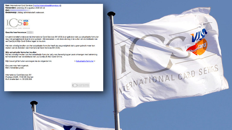 Trap niet in valse e-mail 'ICS' over invullen formulier