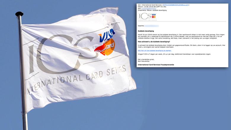 E-mail uit naam van ICS over dubbele beveiliging is vals