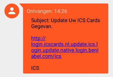 Pas op: phishing sms'jes van 'ICS'