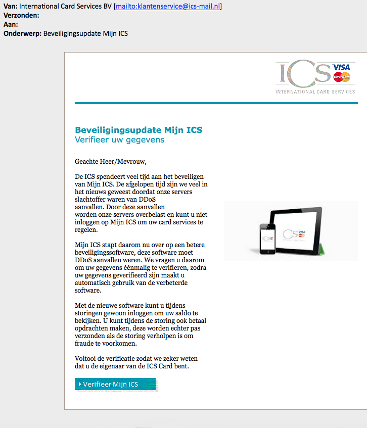 Valse e-mail 'ICS' over beveiligingssoftware