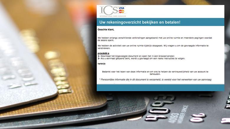 Kijk uit voor verwarrende e-mail 'ICS'
