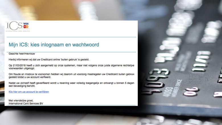 Pas op voor phishingmail 'ICS'