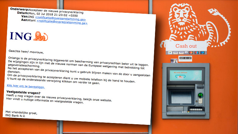 Phishingmail ING: 'Accepteer de nieuwe privacyverklaring'