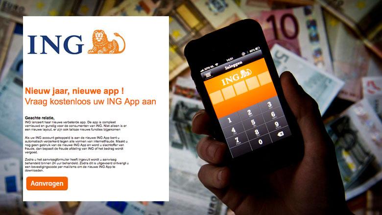 Phishingmail ING: 'Nieuw jaar, nieuwe app!'