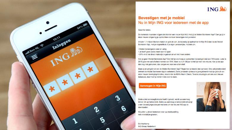 Pas op voor valse e-mail ING: 'Bevestigen met je mobiel'