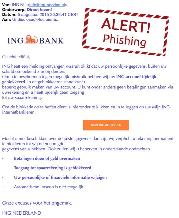 Valse mail ING: 'Direct lezen!'
