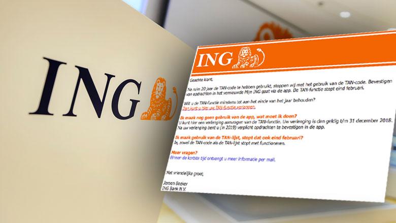 Phishingmail ING: 'De TAN-functie stopt eind februari'