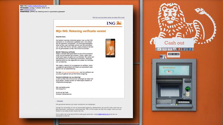 Trap niet in mail 'ING' over accountblokkade