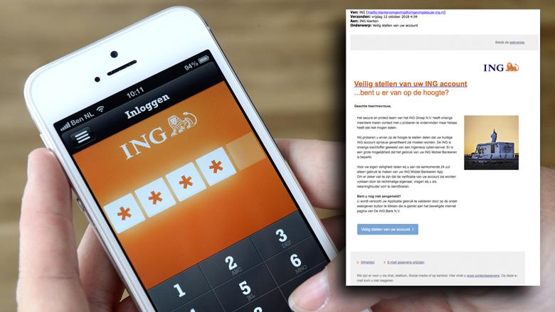Oplichters achter valse ING-mail hengelen naar je bankgegevens