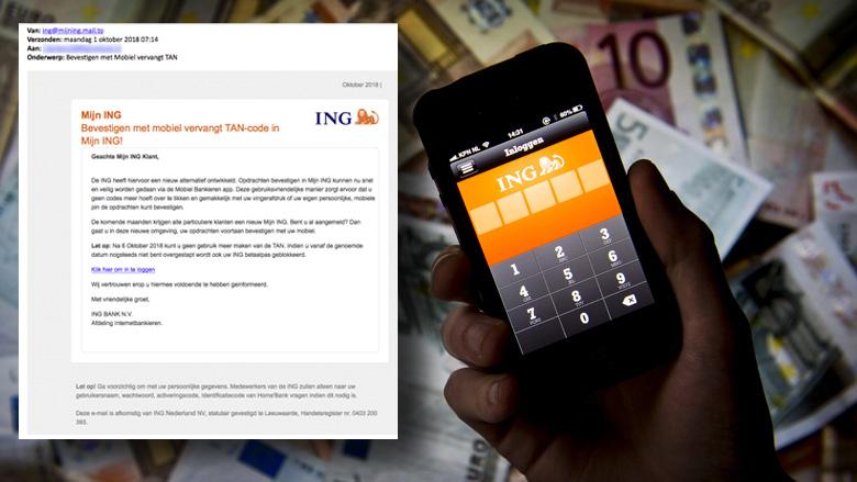 Pas op voor valse mail van 'ING' over TAN-codes