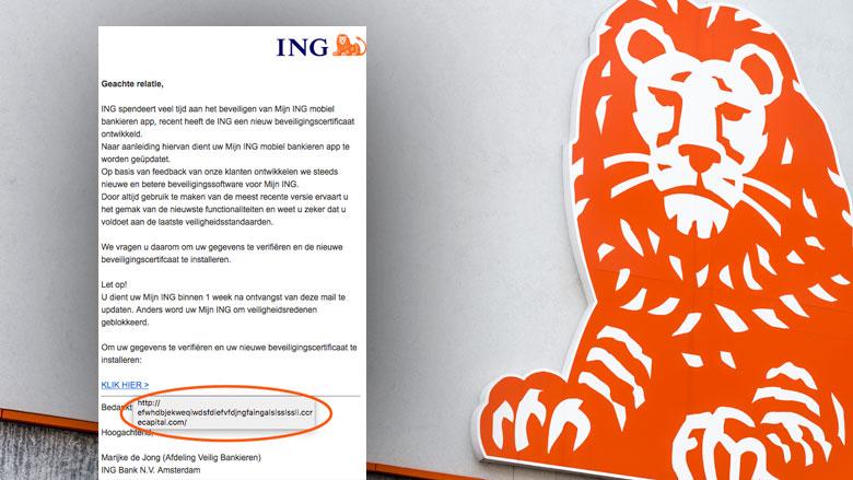 E-mail 'ING' over Mobiel Bankieren App is vals