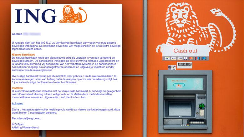 Pas op! E-mail 'ING' is bankpas-phishing
