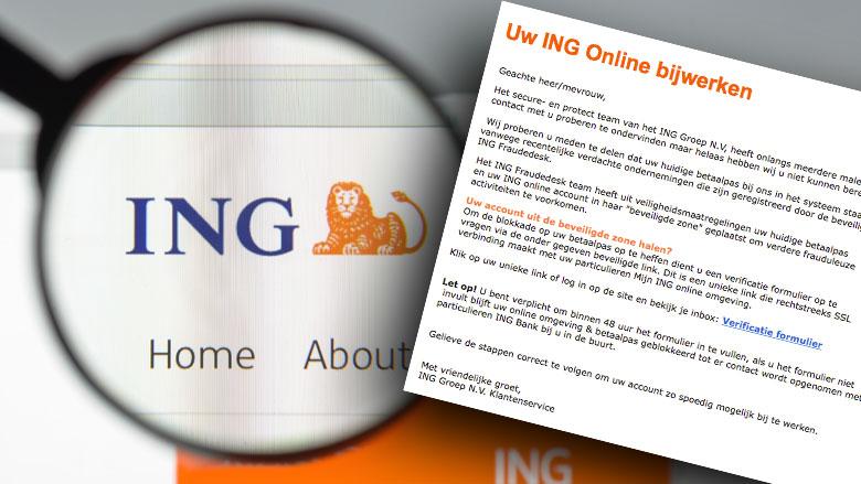 Afzender phishingmail gebruikt echte e-mailadres ING
