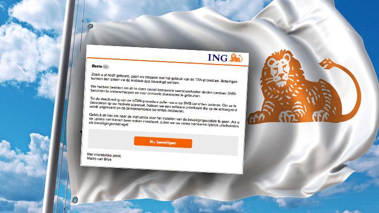 Let op! Bericht 'ING' over beveiligingsupdate is vals