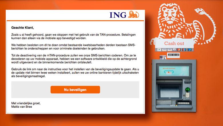 Oplichter achter valse e-mail 'ING' wil jouw bankgegevens