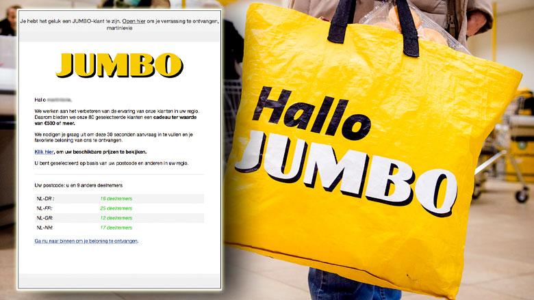 Afzender winactie 'Jumbo' deelt jouw gegevens