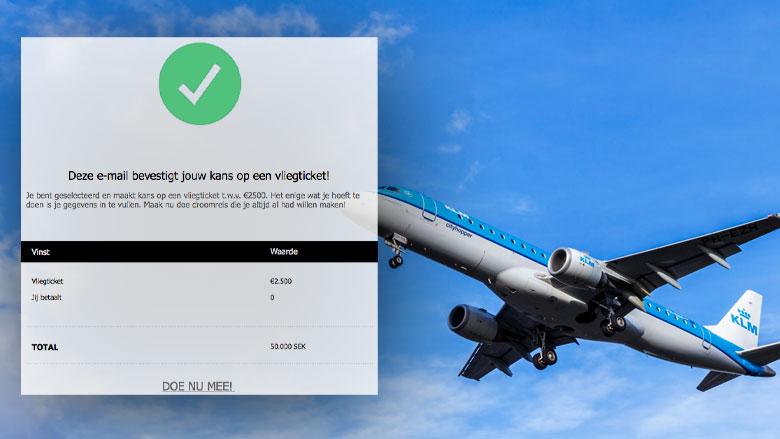 Misleidende winactie uit naam van KLM over droomreis