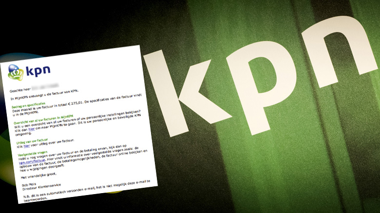 Pas op voor gepersonaliseerde nepmail KPN