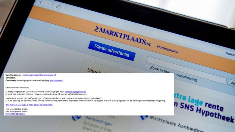 Let op! Phishingmail uit naam van Marktplaats