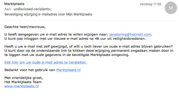 Trap niet in Marktplaats-phishing!