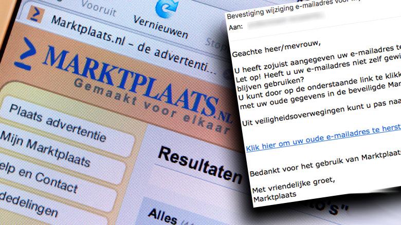 Phishingmail van zogenaamde Marktplaats in omloop