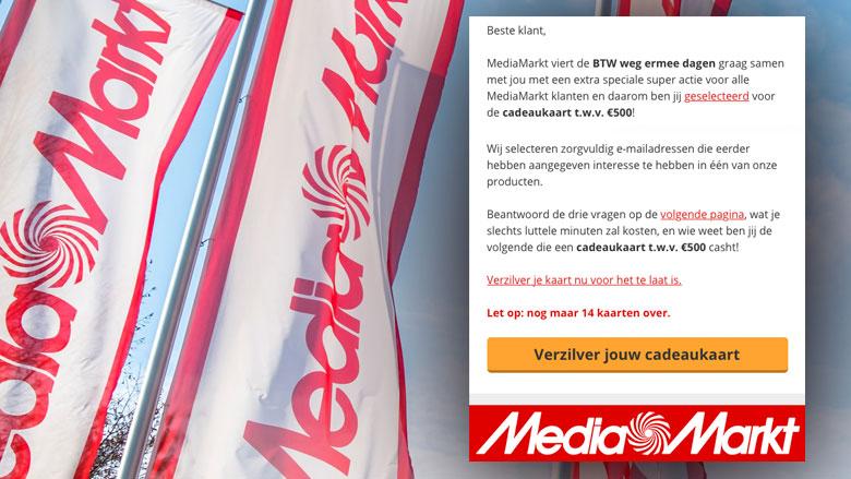 Valse winactie 'MediaMarkt' over cadeaukaart