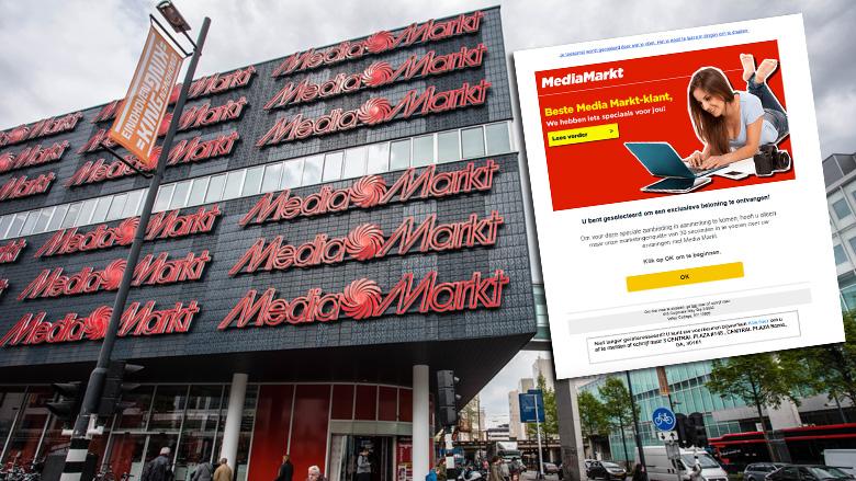 Afzenders valse winactie 'MediaMarkt' zadelen je op met duur abonnement