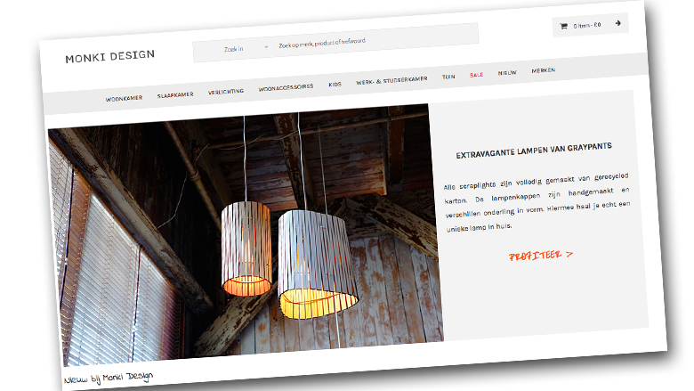 Webshop www.monkidesign.nl is nep