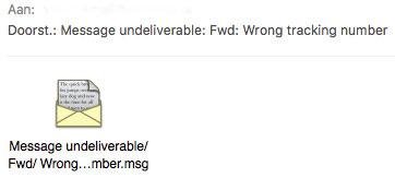 Pas op: MSG-bestand bevat malware