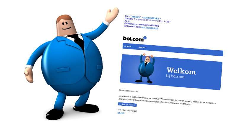 Valse e-mail bol.com: 'accountverificatie'